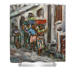 Guatemala Impression V - Left Hand 1 Shower Curtain by Xueling Zou