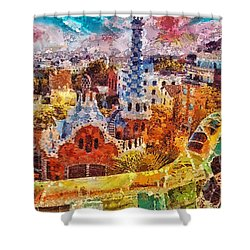 Guell Park Shower Curtain