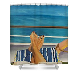 Guided By Your Dreams Shower Curtain by Marcel Quesnel