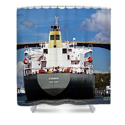 Guided Under Queen Julianna Bridge In Curacao Shower Curtain