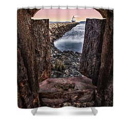 Guiding Light Shower Curtain by Susan Candelario