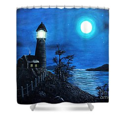 Guiding Lights Shower Curtain by Barbara Griffin