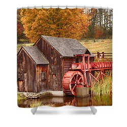 Shower Curtain featuring the photograph Guildhall Grist Mill by Jeff Folger