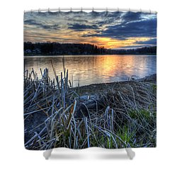Guilford Lake Sunset Ohio Shower Curtain