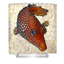 Guinea Fowl Puffer Fish Shower Curtain