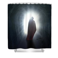 Guise In Tunnel Shower Curtain by Joana Kruse