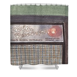 Guitar Amp Sketch Shower Curtain