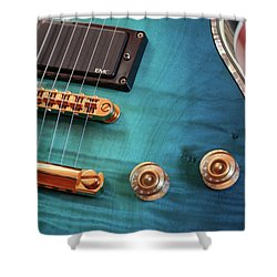 Shower Curtain featuring the photograph Guitar Blues by Joy Watson