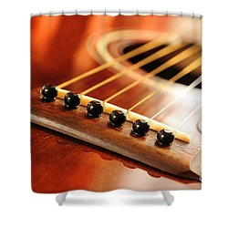 Guitar Bridge Shower Curtain by Elena Elisseeva