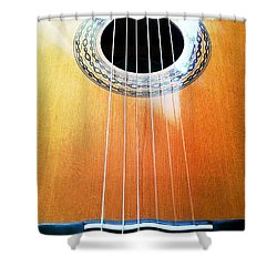 Guitar In The Light Shower Curtain