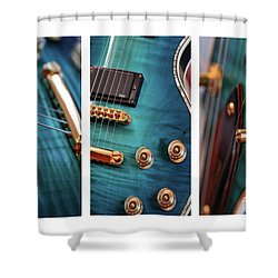 Shower Curtain featuring the photograph Guitar Life by Joy Watson