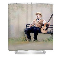 Guitar Man Shower Curtain