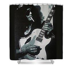 Guitar Man Shower Curtain by ID Goodall