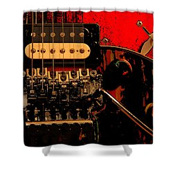 Shower Curtain featuring the photograph Guitar Pickup by John Stuart Webbstock
