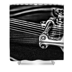 Guitar Reflection Shower Curtain by Karol Livote