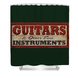 Guitar Sign Shower Curtain by WB Johnston
