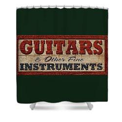 Guitar Sign Shower Curtain