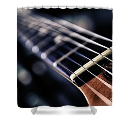 Guitar Strings Shower Curtain by Stelios Kleanthous