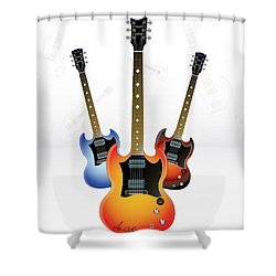 Guitar Style Shower Curtain