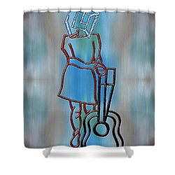 Guitarist Shower Curtain by Patrick J Murphy