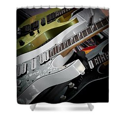 Guitars For Play Shower Curtain by David Patterson