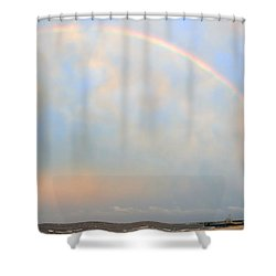 Shower Curtain featuring the photograph Gulf Coast Rainbow by Charlotte Schafer