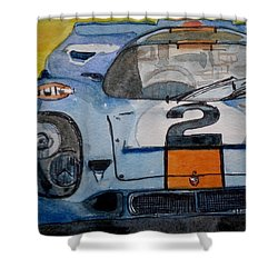 Gulf Porsche Shower Curtain