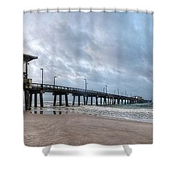Gulf State Pier Shower Curtain by Michael Thomas