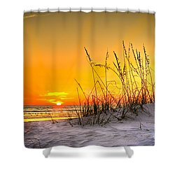 Gulf Sunset Shower Curtain by Marvin Spates