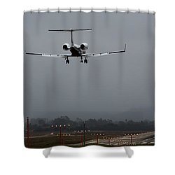 Gulfstream Approach Shower Curtain by John Daly