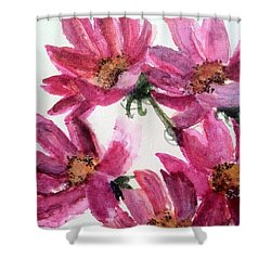 Gull Lake's Flowers Shower Curtain by Sherry Harradence