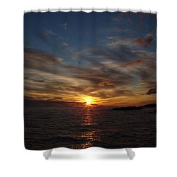 Shower Curtain featuring the photograph Gull Rise by Bonfire Photography