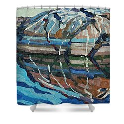 Gull Rock Shower Curtain by Phil Chadwick