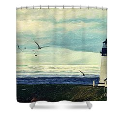 Gulls Way Shower Curtain by Lianne Schneider