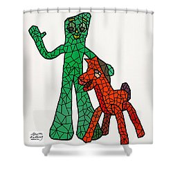 Gumby And Pokey Not For Sale Shower Curtain