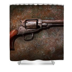 Gun - Police - Dance For Me Shower Curtain by Mike Savad