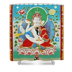 Guru Rinpoche Yab Yum Shower Curtain