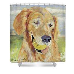 Gus Shower Curtain by Pat Saunders-White