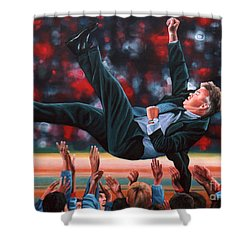 Guus Hiddink Shower Curtain by Paul Meijering