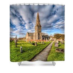Gwyddelwern Church Shower Curtain by Adrian Evans