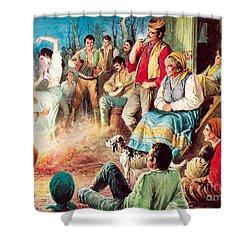 Gypsies Partying Shower Curtain by English School