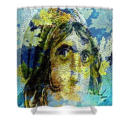 Gypsy Girl Mosaic Shower Curtain
