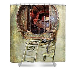Gypsy Wagon Shower Curtain