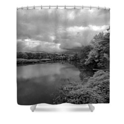 Hackensack River Shower Curtain