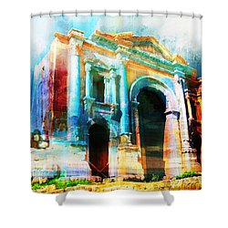 Hadrians Arch Shower Curtain by Catf