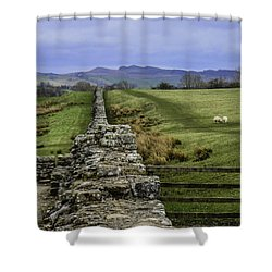Hadrian's Wall Shower Curtain by Mary Carol Story
