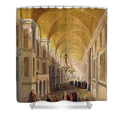 Haghia Sophia, Plate 2 The Narthex Shower Curtain by Gaspard Fossati