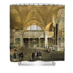 Haghia Sophia, Plate 9 The New Imperial Shower Curtain by Gaspard Fossati