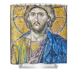 Hagia Sofia Jesus Mosaic Shower Curtain