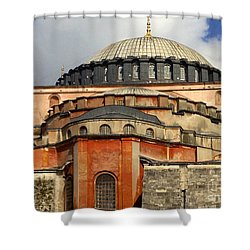 Hagia Sophia Ayasofya Meydani Byzantine Basilica Later Imperial Mosque Istanbul Turkey Shower Curtain by Ralph A  Ledergerber-Photography